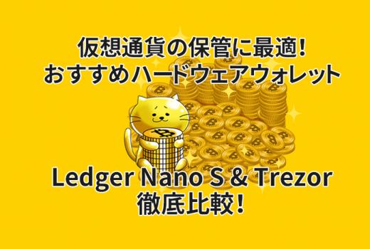 仮想通貨おすすめハードウェアウォレットLedger Nano SとTrezorを徹底比較!