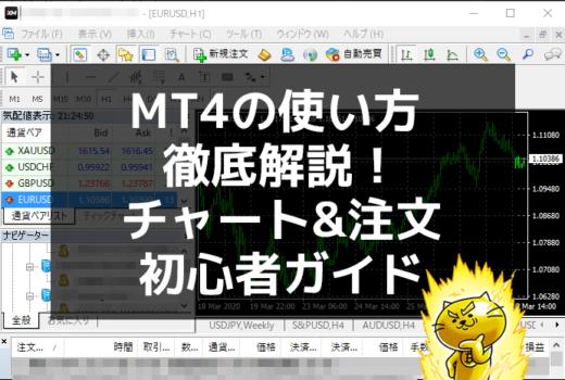 MT4の使い方 チャート表示と新規&決済注文を徹底解説!XM初心者ガイド